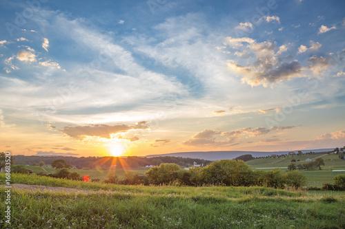 Obraz na płótnie Central Pennsylvania August Sunset