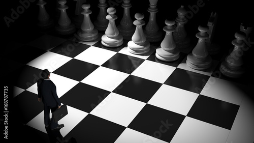 Stampa su Tela businessman on the chessboard