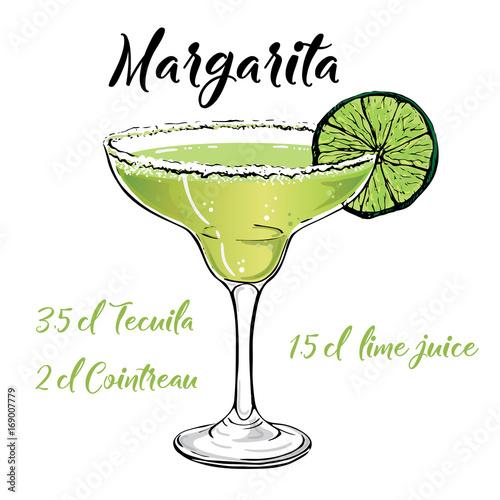 Cuadros en Lienzo margarita cocktail vector