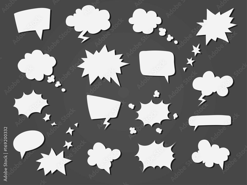 Kolekcja balonów mowy kreskówka. <span>plik: #169200332   autor: ksuksu</span>
