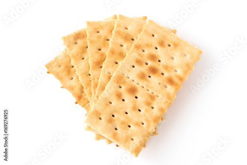 group of crackers isolated on white Tapéta, Fotótapéta