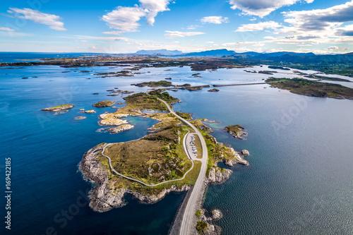 Canvas Atlantic Ocean Road aerial photography.