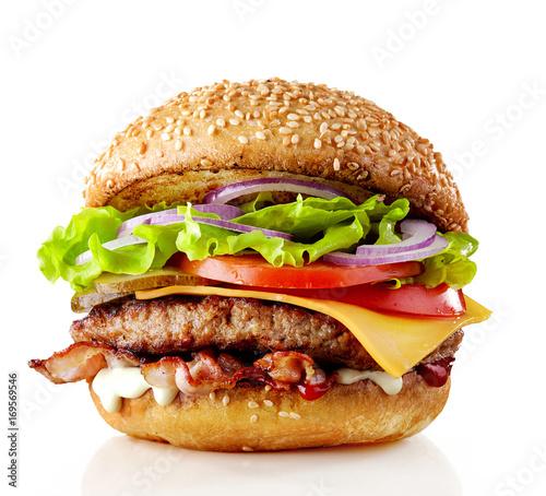 Fotografia fresh tasty burger