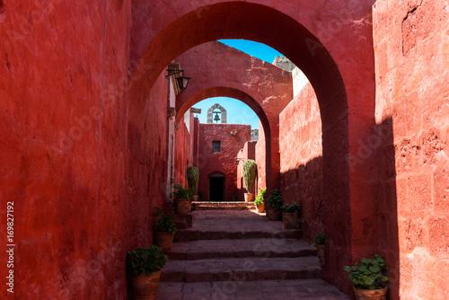 The Santa Catalina Monastery in Arequipa, Peru