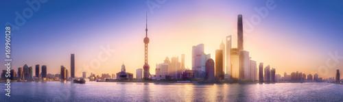 Photo Shanghai skyline cityscape