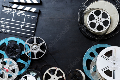 Different kind of film strip and slate