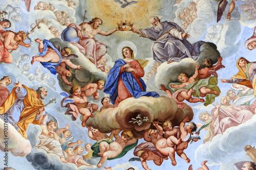 Fototapeta Gloire de Marie dans le Ciel