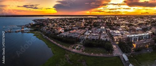 Fototapeta premium Fontanna Charleston z góry