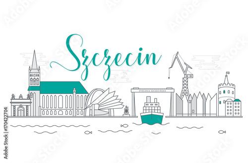Panorama miasta Szczecin