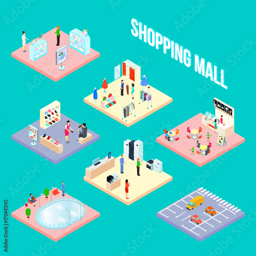 Shopping Mall Set Object