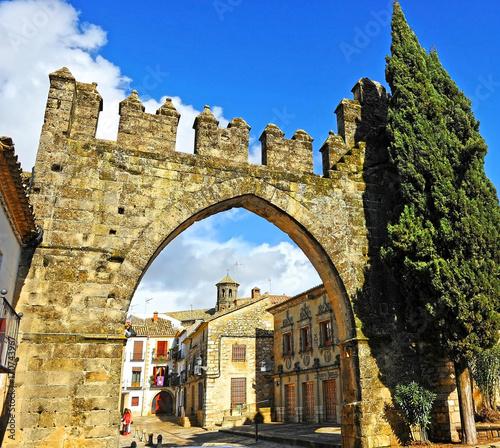 Jaen Gate in Baeza, World Heritage City by Unesco, Spain