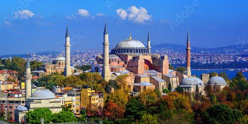 Canvas-taulu Hagia Sophia basilica in Istanbul city, Turkey