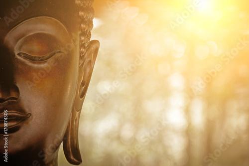 Foto the Head of Buddha Statue.