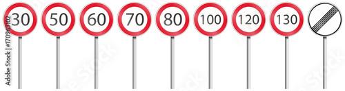 Obraz na plátně Geschwindigkeiten Set mit Stange