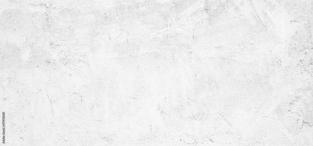 Blank white grunge cement wall texture background, banner, interior design background, banner