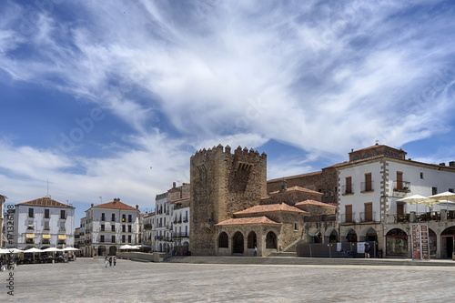 hermosa ciudad monumental de Cáceres en España
