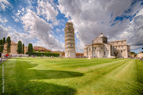 Stampa su Tela Public square of miracle in Pisa