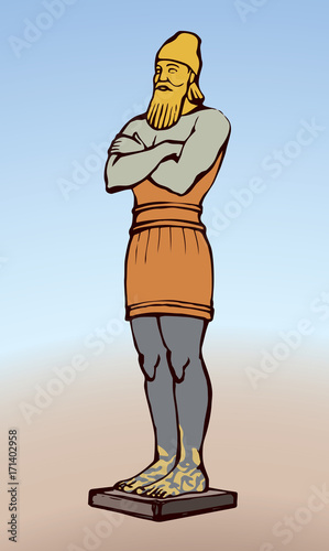 Fotografía Golden Idol of Nebuchadnezzar. Vector drawing
