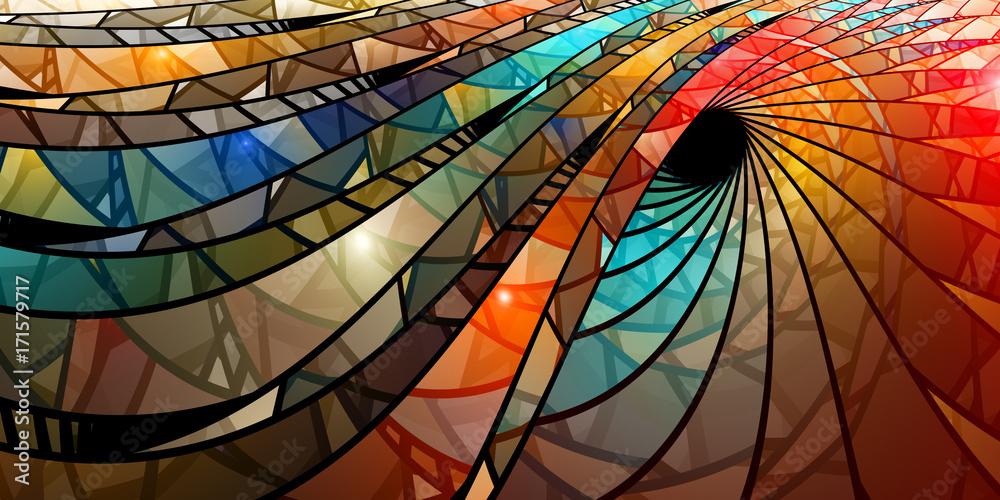 Spirala kolorowe witraże <span>plik: #171579717 | autor: sakkmesterke</span>