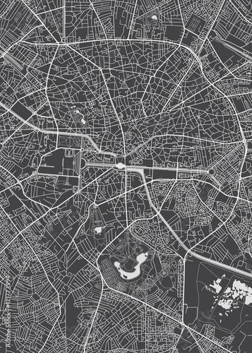 Photo Bucharest city plan, detailed vector map