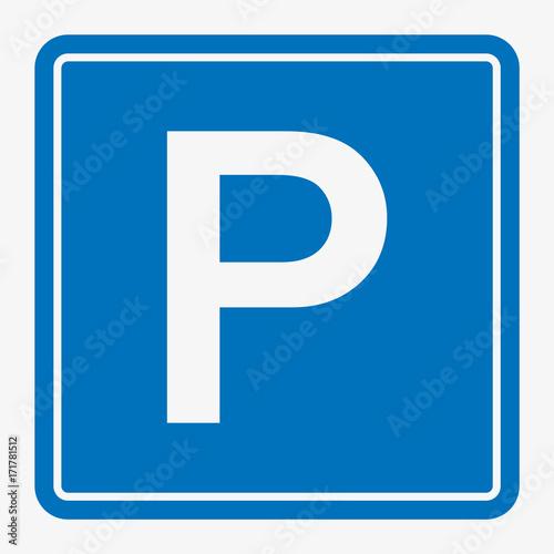 Street Road Sign : Parking Area Vector illustration.