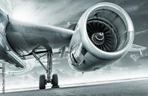 Tableau sur Toile Moteur d'avion