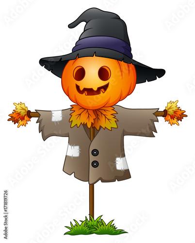 Scarecrow cartoon Fototapeta