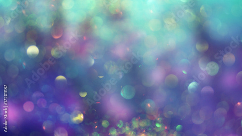 Photo Abstract underwater background, mermaid skin concept, bokeh light glistening on purple and turquoise color shades, blurred, perfect as backdrop or wallpaper, a dreamy atmosphere for your design