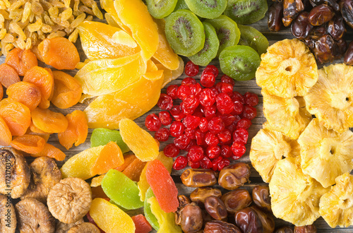 Mix of dried and candied fruit