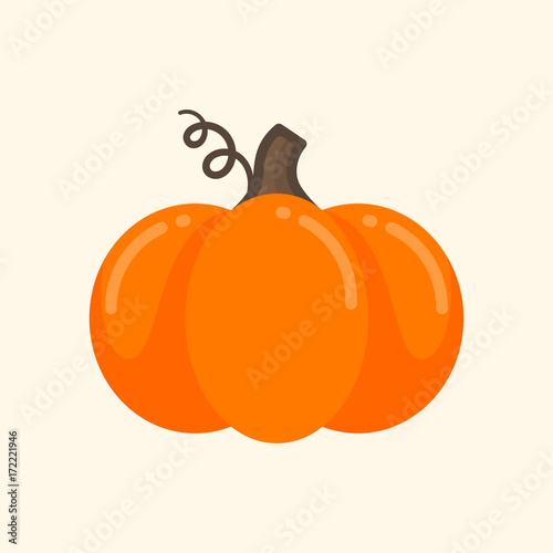 Canvas Print cartoon cute pumpkin vector