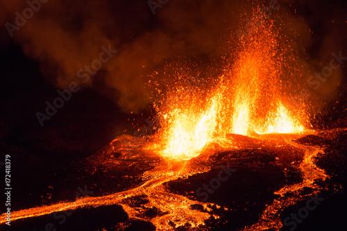 Slika na platnu Eruption Volcan Piton de La Fournaise