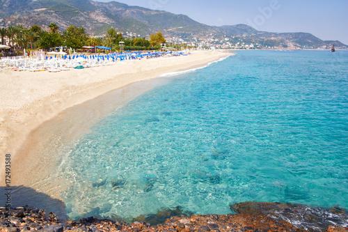 Obraz na plátně Tropical resort sea beach on summer vacation