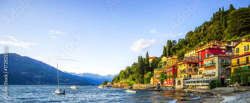 Canvas Print Panorama Varenna, Lake Como Italy