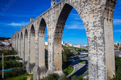 The Aqueduct Aguas Livres in Lisbon, Portugal Fototapeta