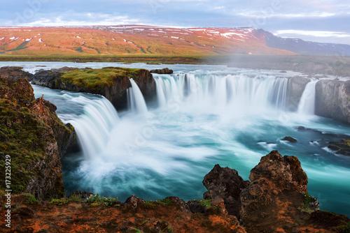 Godafoss waterfall on Skjalfandafljot river