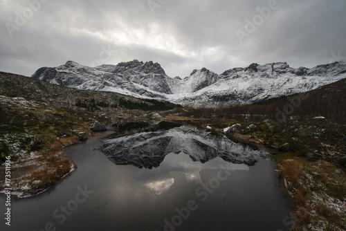 Norwegian mountains in winter