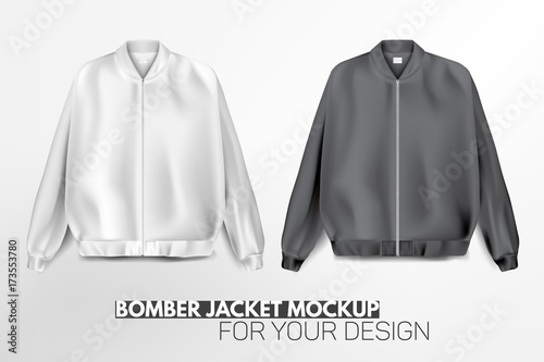 Beautiful, realistic, modern bomber jacket mockup for your design Fototapeta