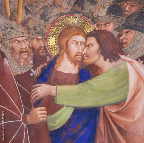 Valokuva Fresco in San Gimignano - Kiss of Judas