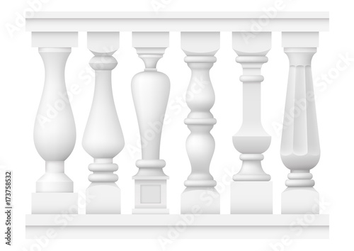 Fotomural Set of classic balusters
