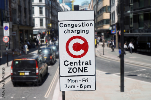 London Congestion Charging Zone Sign #174180120