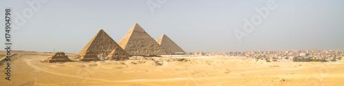 Carta da parati Giza pyramids in Cairo, Egypt