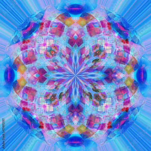 Obraz na plátně Mandala frattale cruciforme