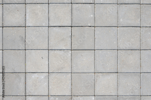 Photo Gray Concrete Square Paving Stone Texture