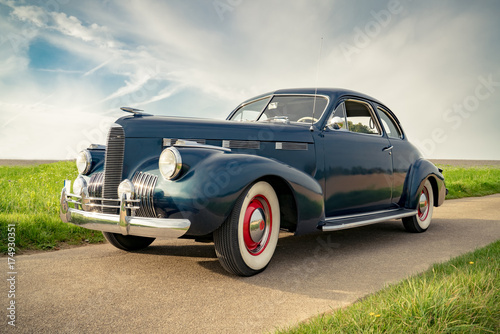 Fototapeta Oldtimer Cadillac Lasalle Coupe 1940, Nahaufnahme