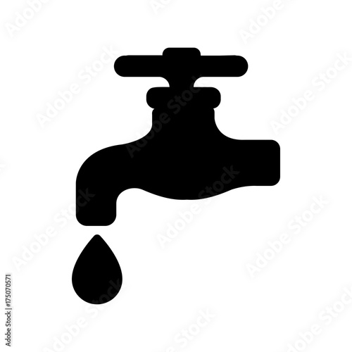 Photo waterworks / faucet / water tap icon