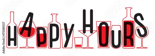 Fotografia, Obraz Drinking glass and bottles silhouettes