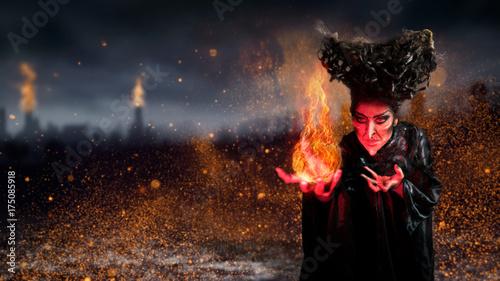 Fotografia, Obraz Hexe mit Magie