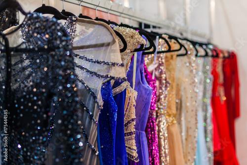 Fotografiet Shiny evening dresses