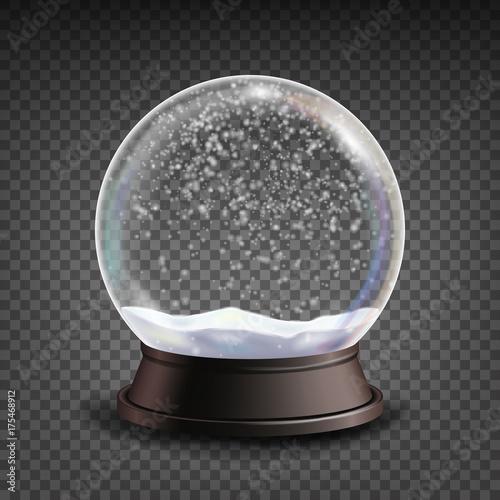 Canvas Print Snow Globe Realistic Vector