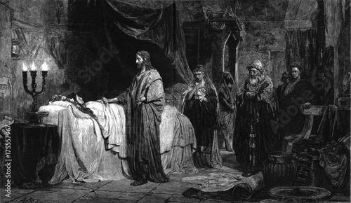 Fotografia, Obraz The resurrection of Jesus the daughter of Jairus.